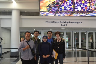 2013 Arryman Fellows Arrival at O'hare Int'l Airport - Chicago with Elizabeth Morrysey  EDGS Program Manager